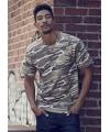 Camouflage t shirt voor heren