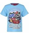 Cars t shirt lichtblauw voor jongens