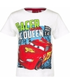 Cars t shirt wit voor jongens