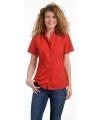 Dames overhemd rood korte mouw