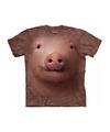 Dieren t shirt varken big voor volwassenen
