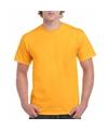 Donkergeel katoenen shirt voor volwassenen