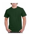Donkergroen katoenen shirt voor volwassenen
