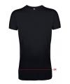 Extra lang t shirt zwart
