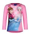 Frozen t shirt roze met ijskristallen