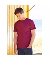 Fruit of the loom t shirt bordeaux