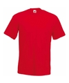 Fruit of the loom t shirt rood
