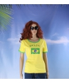 Geel dames shirt brazilie