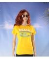 Geel dames t shirt brazilie