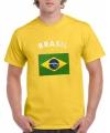 Geel heren t shirt brasil