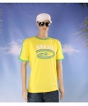Geel heren t shirt brazilie