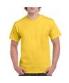 Geel katoenen shirt voor volwassenen