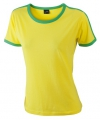 Geel met groen dames t shirt