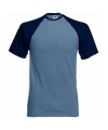 Heren baseball t shirt blauw navy