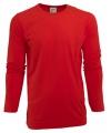 Heren shirt rood met lange mouwen