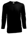 Heren shirt zwart met lange mouwen