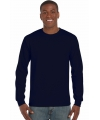Heren t shirt lange mouw navy