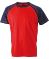 Heren t shirt rood navy