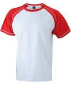 Heren t shirt wit rood