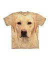 Honden t shirt blonde labrador voor volwassenen