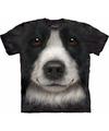 Honden t shirt border collie voor volwassenen