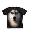 Honden t shirt siberische husky hond voor volwassenen