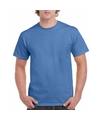 Irisblauw katoenen shirt voor volwassenen