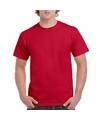 Kersenrood katoenen shirt voor volwassenen