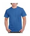 Kobaltblauw katoenen shirt voor volwassenen
