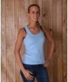 Lichtblauw dames t shirt coconut
