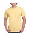 Lichtgeel katoenen shirt voor volwassenen