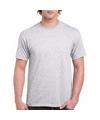 Lichtgrijs katoenen shirt voor volwassenen