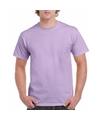 Lilapaars katoenen shirt voor volwassenen