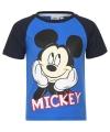 Mickey mouse t shirt blauw zwart voor jongens