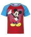 Mickey mouse t shirt rood blauw voor jongens