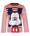 Mickey mouse t shirt rood wit voor jongens