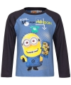 Minion t shirt blauw met zwart
