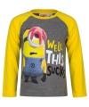 Minion t shirt grijs met geel