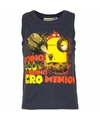 Minions mouwloos shirt donkerblauw