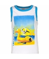 Minions mouwloos shirt wit