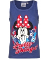 Mouwloos minnie mouse t shirt blauw