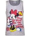 Mouwloos minnie mouse t shirt grijs