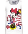 Mouwloos minnie mouse t shirt wit