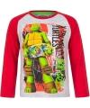 Ninja turtles t shirt grijs rood voor jongens