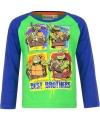 Ninja turtles t shirt groen blauw voor jongens