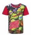 Ninja turtles t shirt met rode mouwtjes