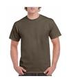 Olijfgroen katoenen shirt voor volwassenen