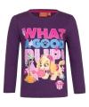 Paw patrol shirt paars voor meisjes