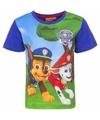 Paw patrol t shirt blauw voor jongens