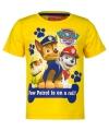 Paw patrol t shirt geel voor kinderen